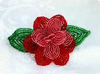 Two Tone Red Rose Clip