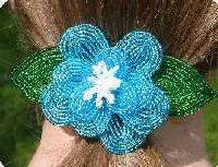 Blue Fantasy Flower Clip