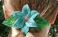 Blue Lily Hair Clip