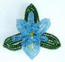 Swarovski Blue Orchid Crystal Pin