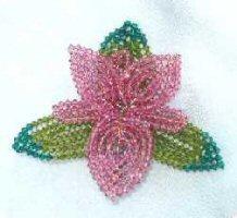 Swarovski Pink Orchid Crystal Pin