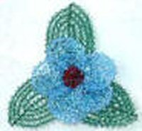 Swarovski Icy Blue Crystal Pin